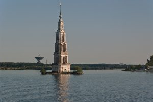 The bell tower of St. Nicholas Cathedral. Kalyazin